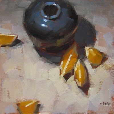 """Hot in the Shade"" original fine art by Carol Marine"