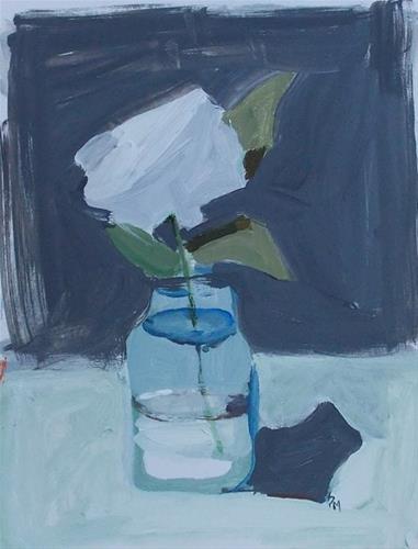 """""""White Flower"""" original fine art by Pamela Munger"""