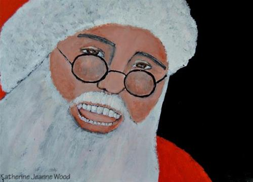 """Santa Claus"" original fine art by Katie Jeanne Wood"