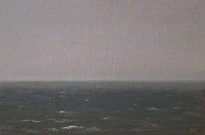 """Calm Seascape"" original fine art by Abbey Ryan"