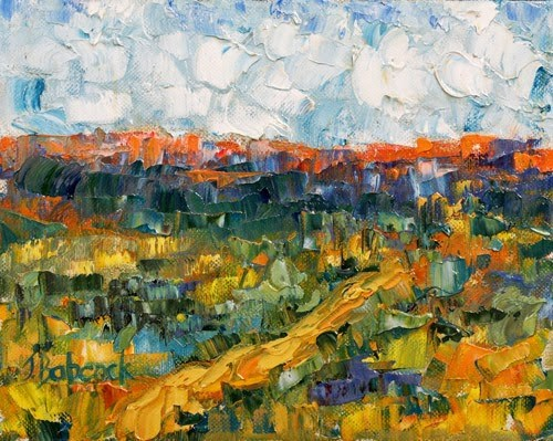 """Abstract Landscape Painting High Plains I by Colorado Impressionist Judith Babcock"" original fine art by Judith Babcock"