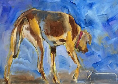 """Rhodesian Ridgeback"" original fine art by Gigi De"
