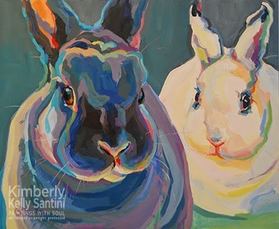 """""""Clover & Lily, Finished"""" original fine art by Kimberly Santini"""