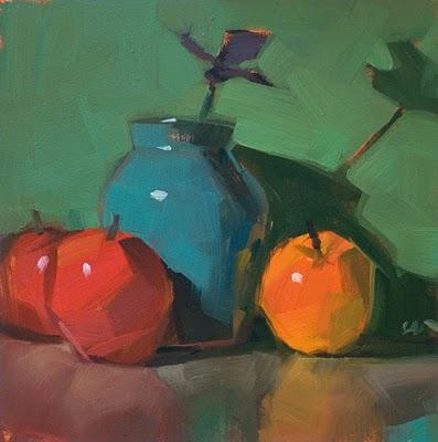 """Adoring --- SOLD"" original fine art by Carol Marine"