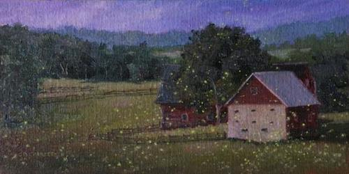 """Commission - Firefly Paintings Original Oil Paintings by Claire Beadon Carnell"" original fine art by Claire Beadon Carnell"