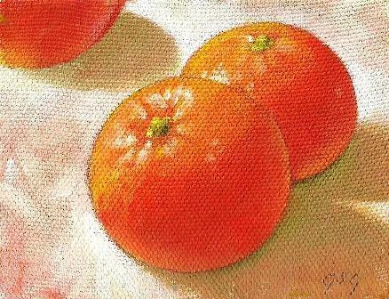 """Study for Oranges"" original fine art by Stuart Graham"
