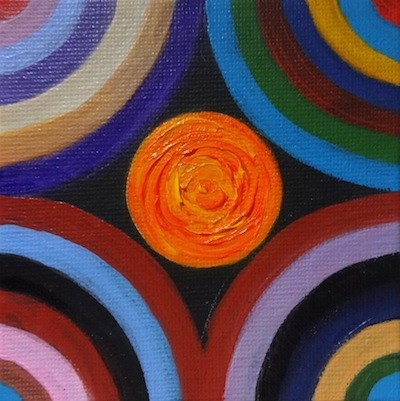 """4072 - My Inner Circle - Mini Master"" original fine art by Sea Dean"