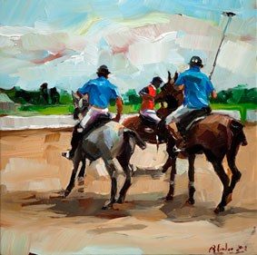 """The game is on"" original fine art by Edward B. Gordon"