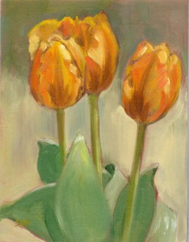 """Yellow Variegated"" original fine art by Sandy Haynes"