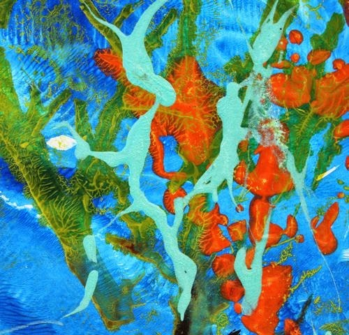 """Under the Sea, Abstract Contemporary Paintings by Arizona Artist Amy Whitehouse"" original fine art by Amy Whitehouse"