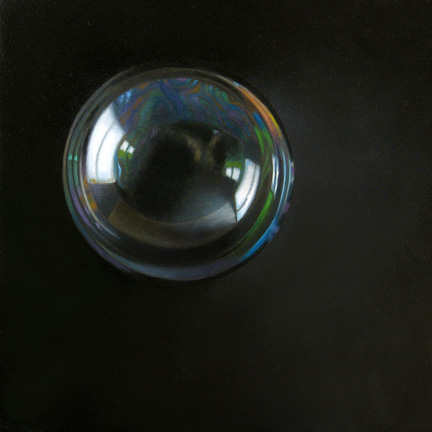 """Bubble 6x6"" original fine art by M Collier"