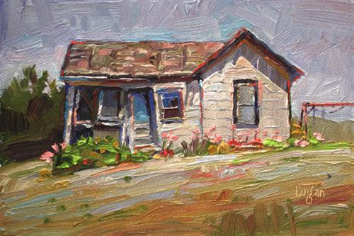 """The Mayor's Manse, Edna, CA"" original fine art by Raymond Logan"