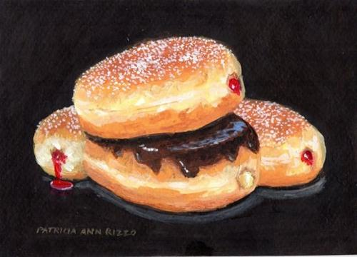 """Sweet Jelly Donuts"" original fine art by Patricia Ann Rizzo"
