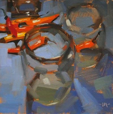 """""""Jarring Peppers"""" original fine art by Carol Marine"""