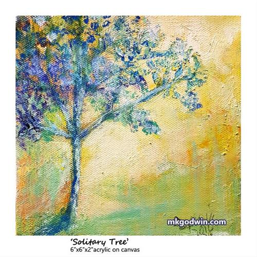 """Solitary Tree"" original fine art by Marie K Godwin"