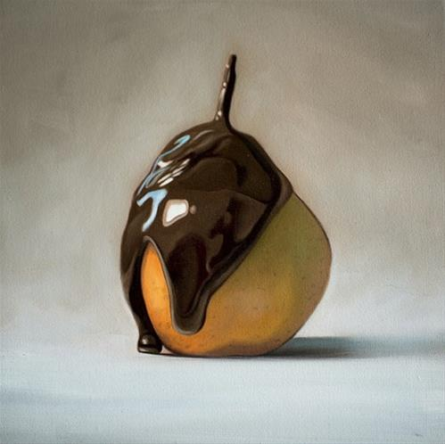 """Chocolate Pear"" original fine art by Lauren Pretorius"
