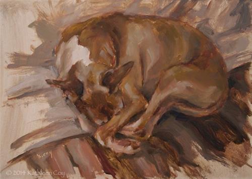 """Day 12 - Italian Greyhound"" original fine art by Kathleen Coy"