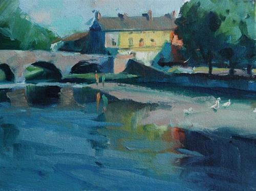 """""""Eniscorthy, Ireland"""" original fine art by Margaret Dyer"""