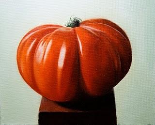 """""""Heirloom Tomato"""" original fine art by Jonathan Aller"""