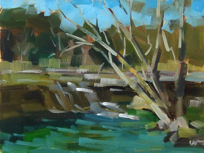 """Bull Creek --- SOLD"" original fine art by Carol Marine"