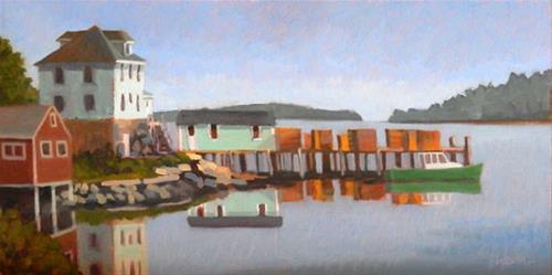 """Stonington Green"" original fine art by Bobbi Heath"