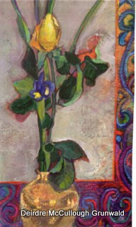 """Yellow Rose"" original fine art by Deirdre McCullough Grunwald"