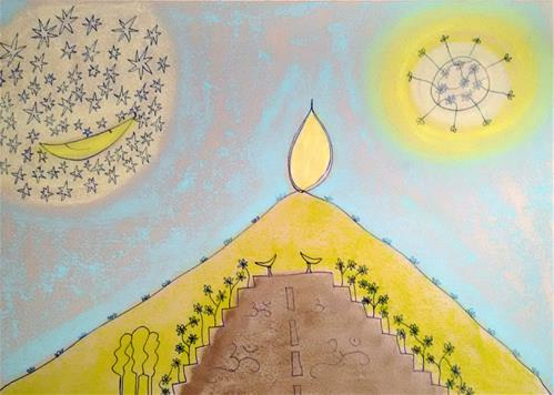 """Mountain of Light"" original fine art by Adéla Svobodová"
