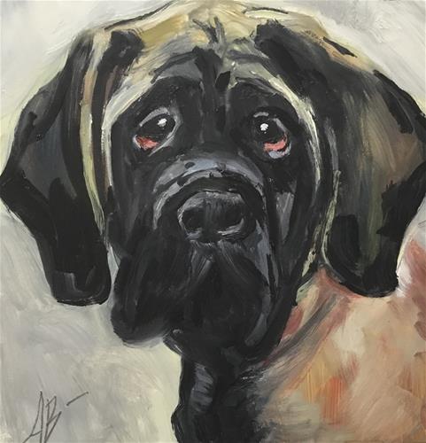 """Mastiff"" original fine art by Annette Balesteri"