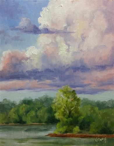 """Summer 2-en plein air"" original fine art by Veronica Brown"