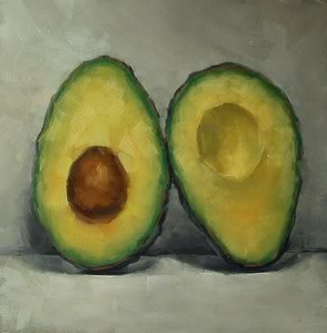 """""""Avocado Halves No.3"""" original fine art by Michael Naples"""