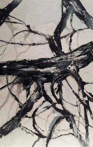 """Bare Trees"" original fine art by Becky Chappell"