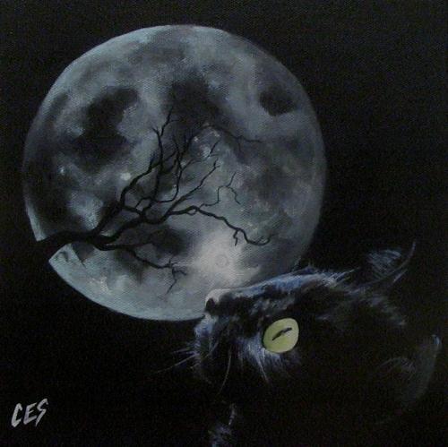 """Winter's Midnight Whisper"" original fine art by ~ces~ Christine E. S. Code"