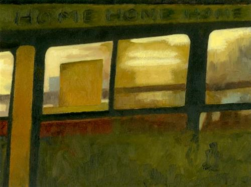 """The Dream - missed the train"" original fine art by Nancy Herman"