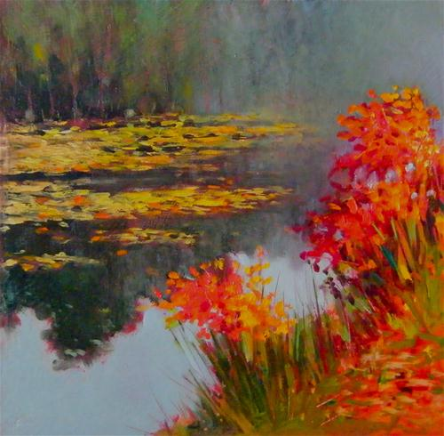 """Yvon's Pond 3"" original fine art by Ken Devine"