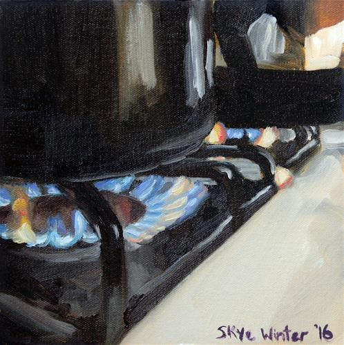 """What's Cooking?"" original fine art by Skye Coddington"