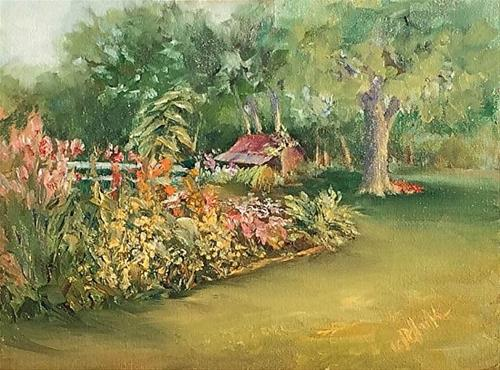 """Farm Memories, 9 x 12 Oil, Landscape"" original fine art by Donna Pierce-Clark"