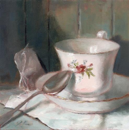 """Country Tea"" original fine art by Linda Jacobus"