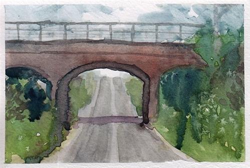 """Sketch of the Bridge"" original fine art by J M Needham"