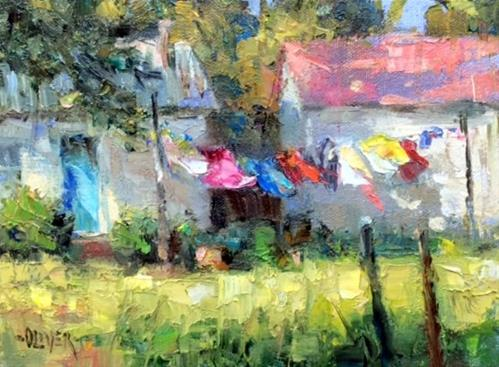 """WASH DAY"" original fine art by Julie Ford Oliver"