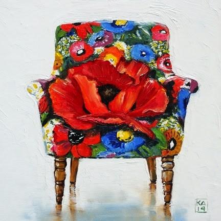 """o'keeffe love"" original fine art by Kimberly Applegate"