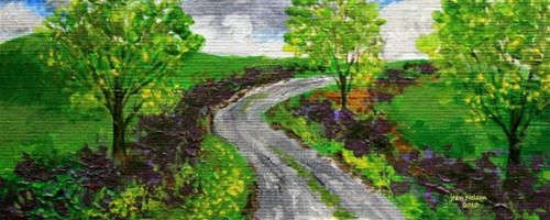 """Irish Lane"" original fine art by Jean Nelson"