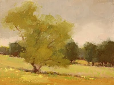 """Misty Spring Morning"" original fine art by Laurel Daniel"