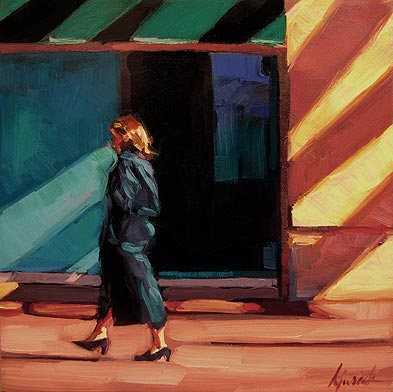 """Rainbow Walk"" original fine art by Karin Jurick"