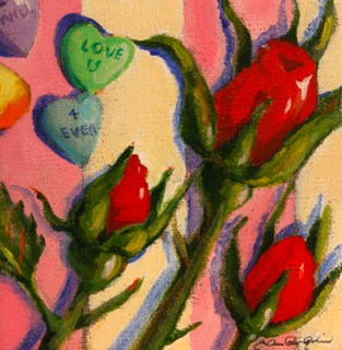 """The Word is Love"" original fine art by JoAnne Perez Robinson"