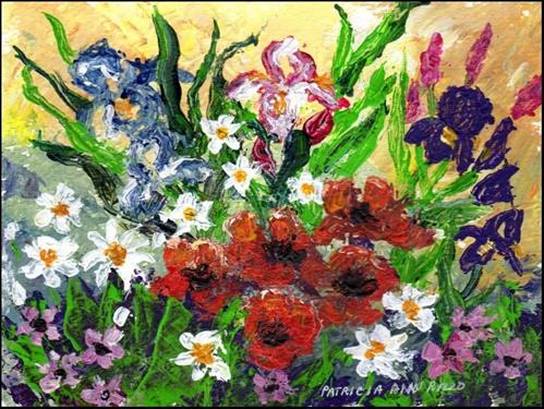 """Wild Bouquet Palette Knife"" original fine art by Patricia Ann Rizzo"