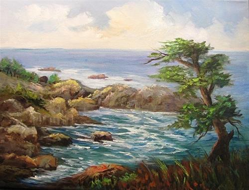 """Along Big Sur  Seascape"" original fine art by Barbara Haviland"