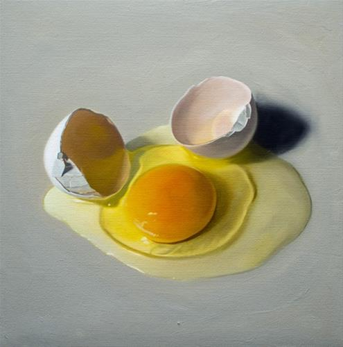 """Cracked Egg"" original fine art by Lauren Pretorius"
