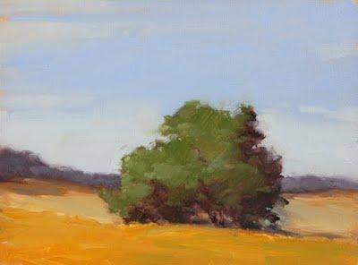 """""""Blue Skies (smilin' at me)"""" original fine art by Laurel Daniel"""