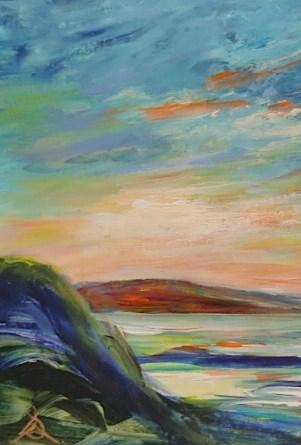 """5035 - Matted - Evening Glow"" original fine art by Sea Dean"