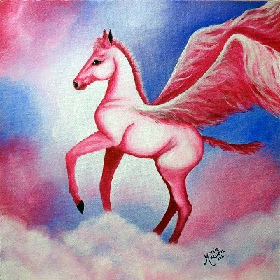 """Pegasus Dreams"" original fine art by Monique Morin Matson"